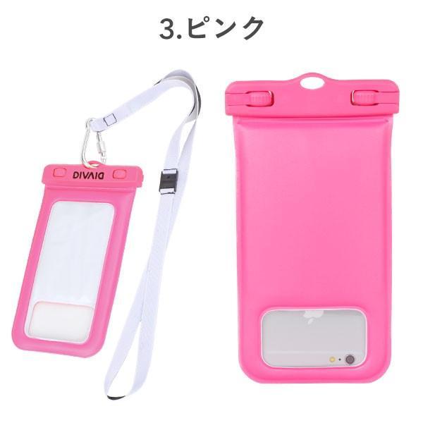 防水ケース スマホ  iphone アイフォン 浮く  完全防水 スマートフォン 防水ポーチ iphone8 アイフォン8 ケース DIVAID IP68|keitai|04