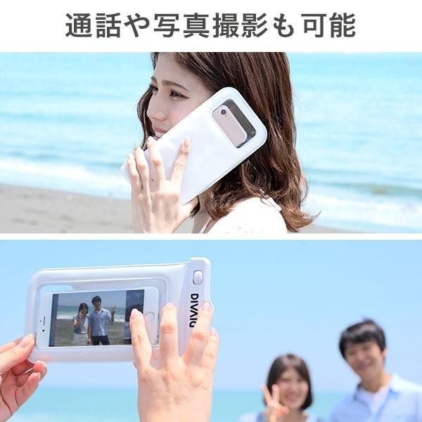 防水ケース スマホ  iphone アイフォン 浮く フローティング スマートフォン 防水ポーチ iphone7 アイフォン7 アイホン7 ケース カバー DIVAID IP68|keitai|08