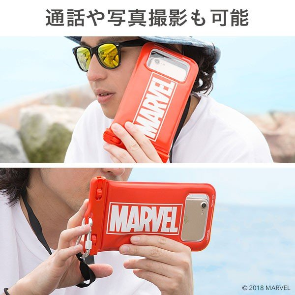 アイフォン 防水ケース スマホ スマートフォン MARVEL マーベル 完全防水 浮くおしゃれ iphone 防水 ケース アイフォン8 アイホン8 ポーチ|keitai|08