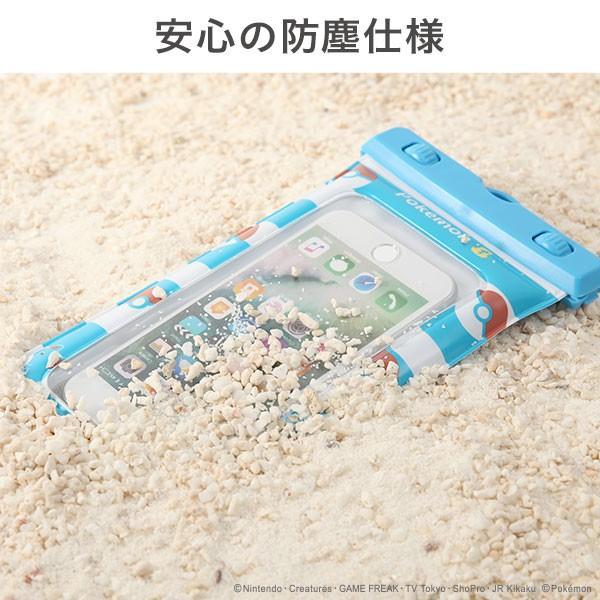 ポケットモンスター/ポケモン DIVAID フローティング防水ケース 5.8インチまで対応(ピカチュウ&ラプラス)|keitai|05