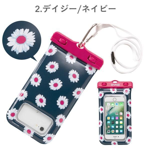スマホ 防水ケース 花柄 完全防水 浮く iphone8 iphone7スマホケース フローティング 防水ケース 5.8インチまで対応 DIVAID patterns|keitai|03