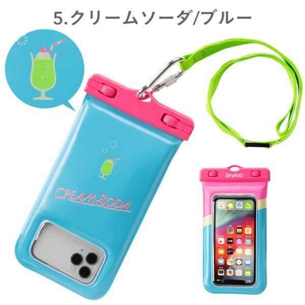 スマホ 防水ケース 花柄 完全防水 浮く iphone8 iphone7スマホケース フローティング 防水ケース 5.8インチまで対応 DIVAID patterns|keitai|06