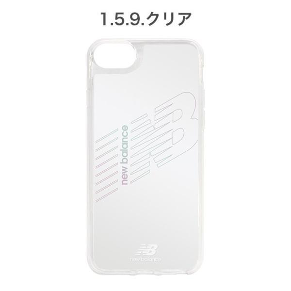 iPhone XS X 透明 ケース XR 8 7 6s 6 クリア ケース ニューバランス New Balance ハイブリッドサイドカラー keitai 02