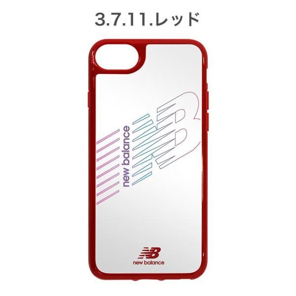 iPhone XS X 透明 ケース XR 8 7 6s 6 クリア ケース ニューバランス New Balance ハイブリッドサイドカラー keitai 04