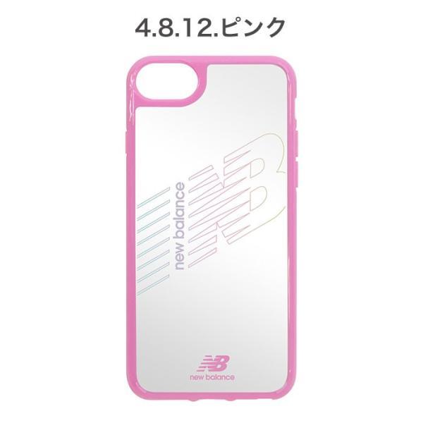 iPhone XS X 透明 ケース XR 8 7 6s 6 クリア ケース ニューバランス New Balance ハイブリッドサイドカラー keitai 05