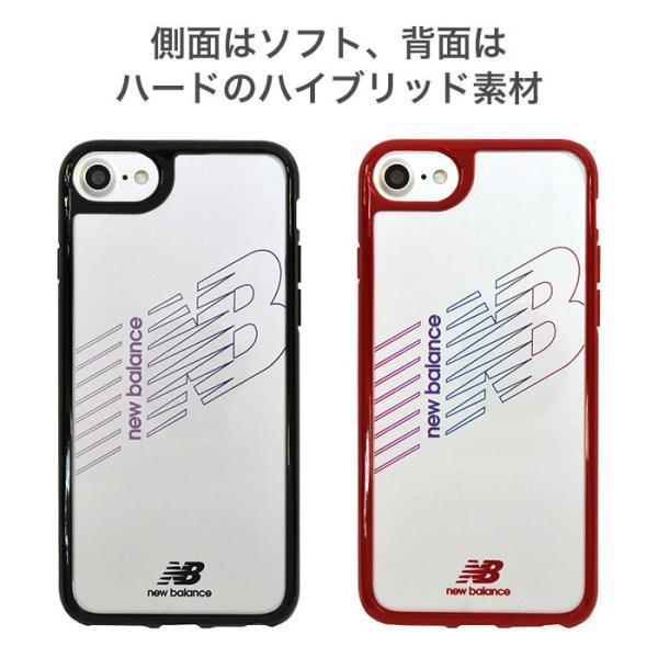 iPhone XS X 透明 ケース XR 8 7 6s 6 クリア ケース ニューバランス New Balance ハイブリッドサイドカラー keitai 07