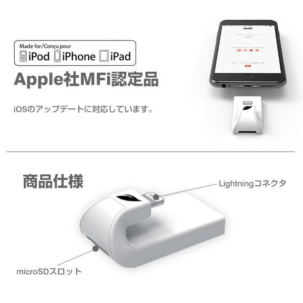 Leef iACCESS アイアクセス Lightning microSDカードリーダー iPhone iPad 対応 TOSHIBA製 microSDHC 32GB 同梱 keitai 04
