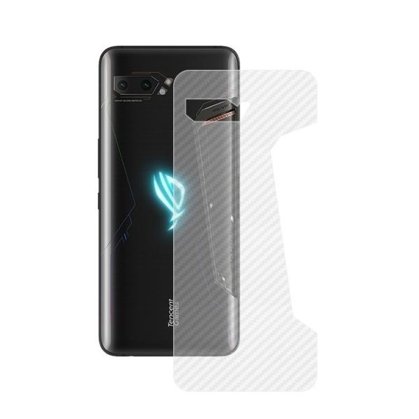 ASUS ROG Phone 2 ZS660KL カーボン調 バックフィルム 背面保護フィルム エイスース ROG Phone 2 ZS660KL 保護フィルム|keitaicase