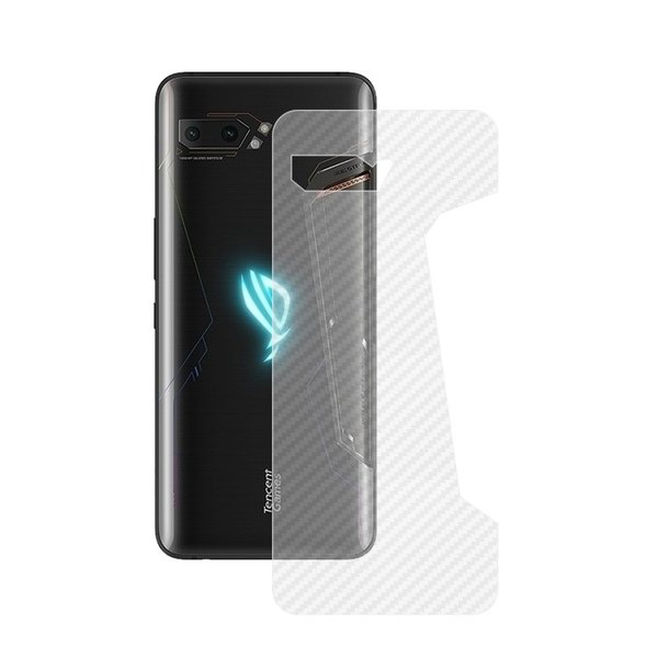 ASUS ROG Phone 2 ZS660KL カーボン調 バックフィルム 背面保護フィルム エイスース ROG Phone 2 ZS660KL 保護フィルム|keitaiichiba