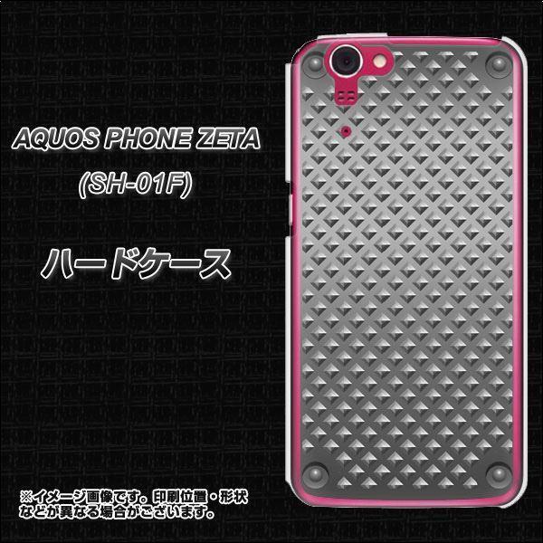 アクオスフォンZETA SH-01F ハードケース カバー 570 スタックボード 素材クリア UV印刷