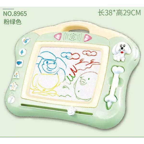 お絵かきボード知育玩具シリーズせんせいおえかき音と光を楽しめる幼児おもちゃ磁石マグネットスタンプ付属HB-00382