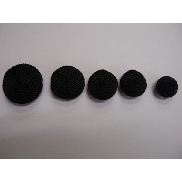 ボタン コード釦  2446 18mm   喪服用