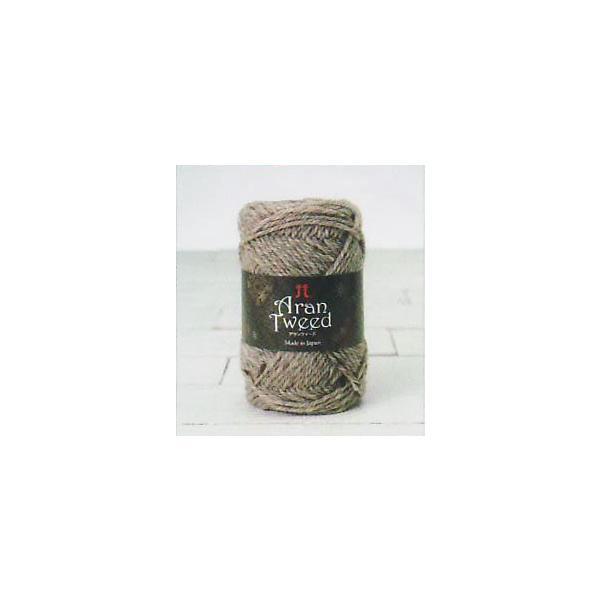 アランツィード ハマナカ 色1【KY】 毛糸 編み物 手編み糸 並太 アランツイード