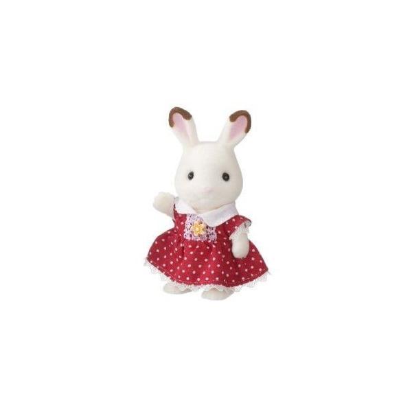 ショコラウサギファミリー ショコラウサギの女の子 新品シルバニアファミリー    人形  ドール (弊社ステッカー付)