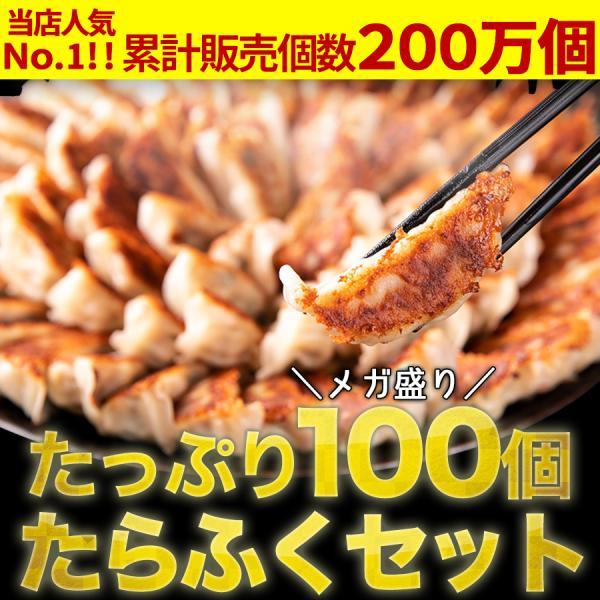 研ちゃん餃子たらふく満腹セット50個袋入×2 1.3キロ 餃子100個業務用