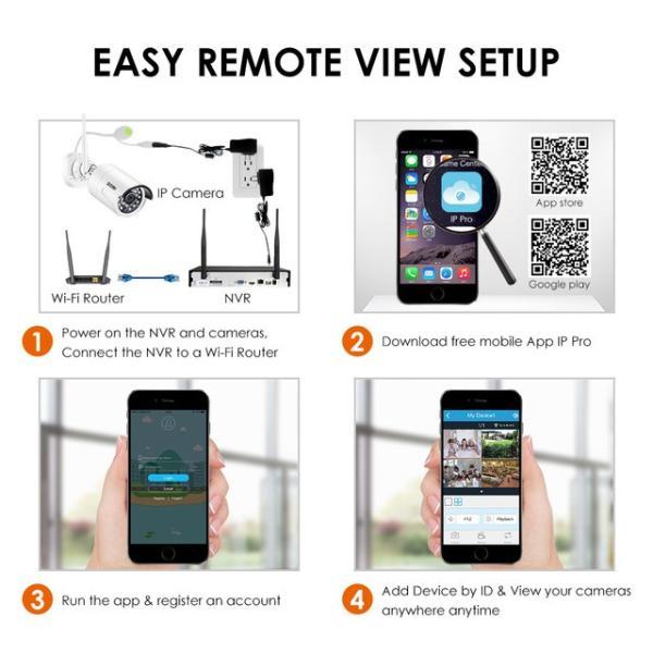 ZOSI 220万画素 1080 1TB 防犯カメラ セット ワイヤレスカメラ 4台 無線接続 配線不要 防水仕様 暗視対|kenji1980-store|12