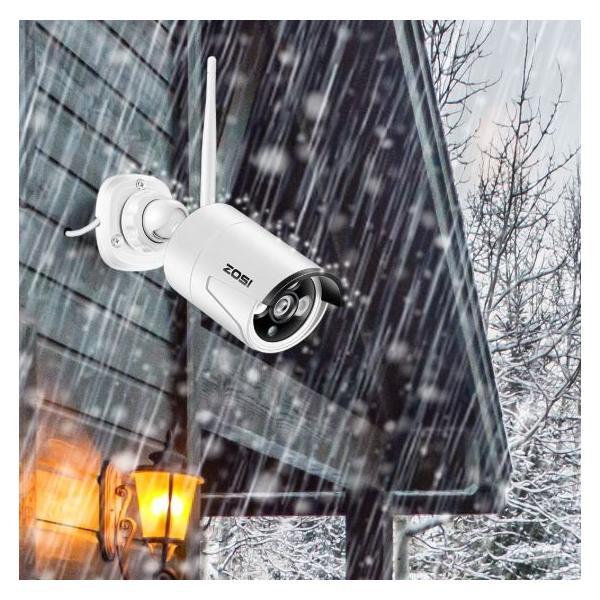 ZOSI 220万画素 1080 1TB 防犯カメラ セット ワイヤレスカメラ 4台 無線接続 配線不要 防水仕様 暗視対|kenji1980-store|04