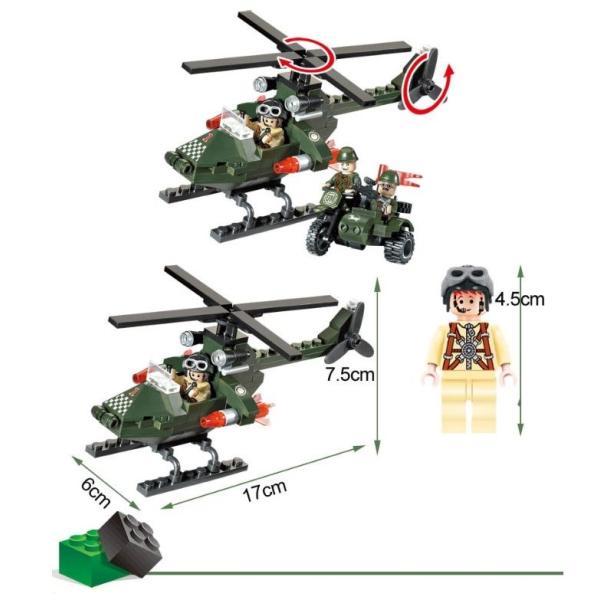 レゴ互換 ブロック 軍隊 軍事基地 ヘリコプター 武器 戦闘 戦車 ミリタリー 兵士27体 Lego 1281ピース|kenji1980-store|12