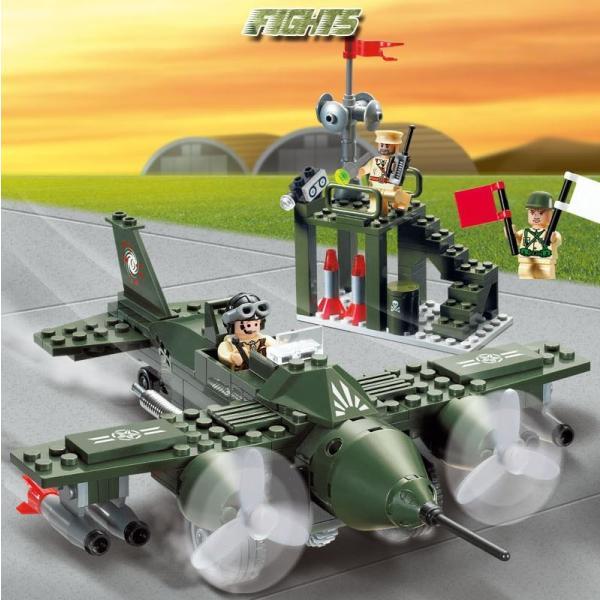 レゴ互換 ブロック 軍隊 軍事基地 ヘリコプター 武器 戦闘 戦車 ミリタリー 兵士27体 Lego 1281ピース|kenji1980-store|13