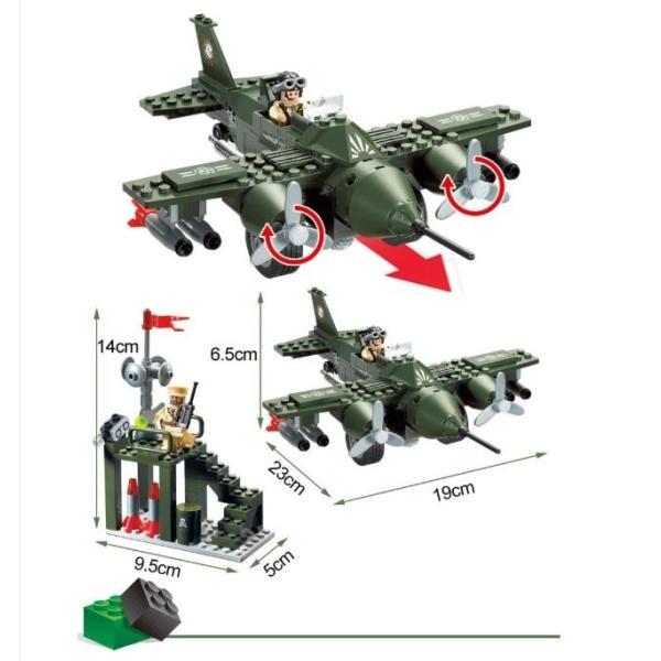 レゴ互換 ブロック 軍隊 軍事基地 ヘリコプター 武器 戦闘 戦車 ミリタリー 兵士27体 Lego 1281ピース|kenji1980-store|14