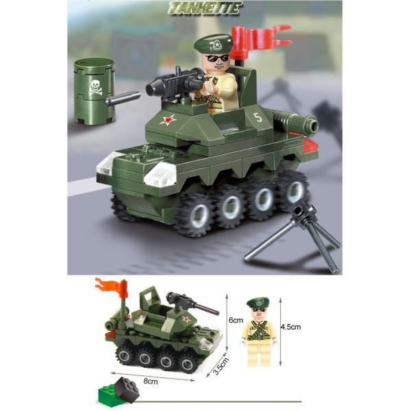 レゴ互換 ブロック 軍隊 軍事基地 ヘリコプター 武器 戦闘 戦車 ミリタリー 兵士27体 Lego 1281ピース|kenji1980-store|15