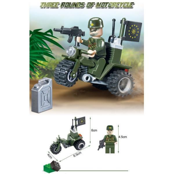 レゴ互換 ブロック 軍隊 軍事基地 ヘリコプター 武器 戦闘 戦車 ミリタリー 兵士27体 Lego 1281ピース|kenji1980-store|16