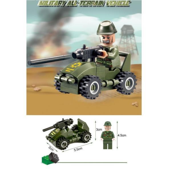 レゴ互換 ブロック 軍隊 軍事基地 ヘリコプター 武器 戦闘 戦車 ミリタリー 兵士27体 Lego 1281ピース|kenji1980-store|17