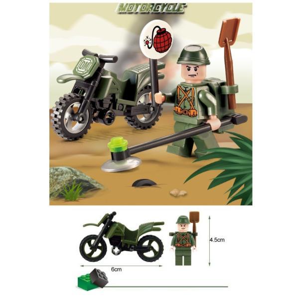 レゴ互換 ブロック 軍隊 軍事基地 ヘリコプター 武器 戦闘 戦車 ミリタリー 兵士27体 Lego 1281ピース|kenji1980-store|18