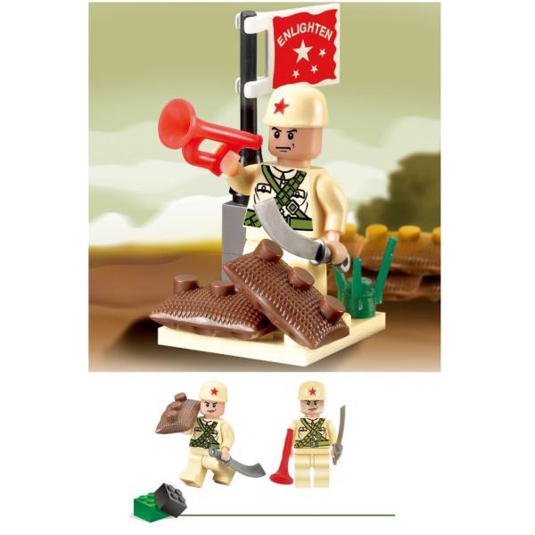 レゴ互換 ブロック 軍隊 軍事基地 ヘリコプター 武器 戦闘 戦車 ミリタリー 兵士27体 Lego 1281ピース|kenji1980-store|19