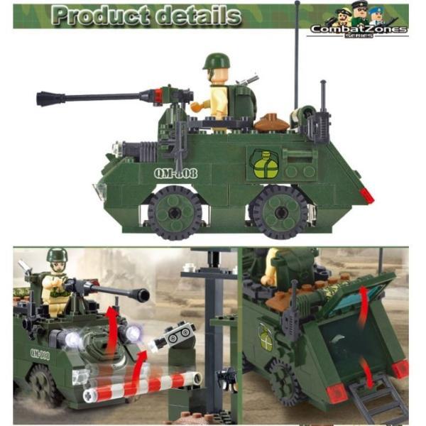 レゴ互換 ブロック 軍隊 軍事基地 ヘリコプター 武器 戦闘 戦車 ミリタリー 兵士27体 Lego 1281ピース|kenji1980-store|20