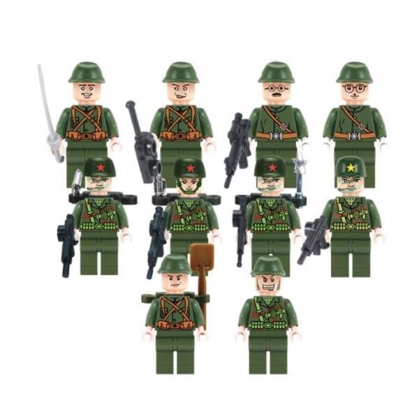 レゴ互換 ブロック 軍隊 軍事基地 ヘリコプター 武器 戦闘 戦車 ミリタリー 兵士27体 Lego 1281ピース|kenji1980-store|03