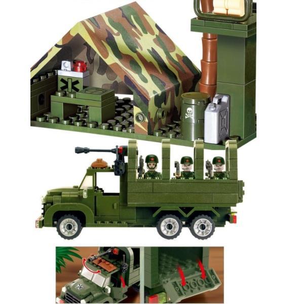 レゴ互換 ブロック 軍隊 軍事基地 ヘリコプター 武器 戦闘 戦車 ミリタリー 兵士27体 Lego 1281ピース|kenji1980-store|21