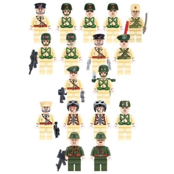 レゴ互換 ブロック 軍隊 軍事基地 ヘリコプター 武器 戦闘 戦車 ミリタリー 兵士27体 Lego 1281ピース|kenji1980-store|04
