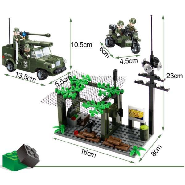 レゴ互換 ブロック 軍隊 軍事基地 ヘリコプター 武器 戦闘 戦車 ミリタリー 兵士27体 Lego 1281ピース|kenji1980-store|06