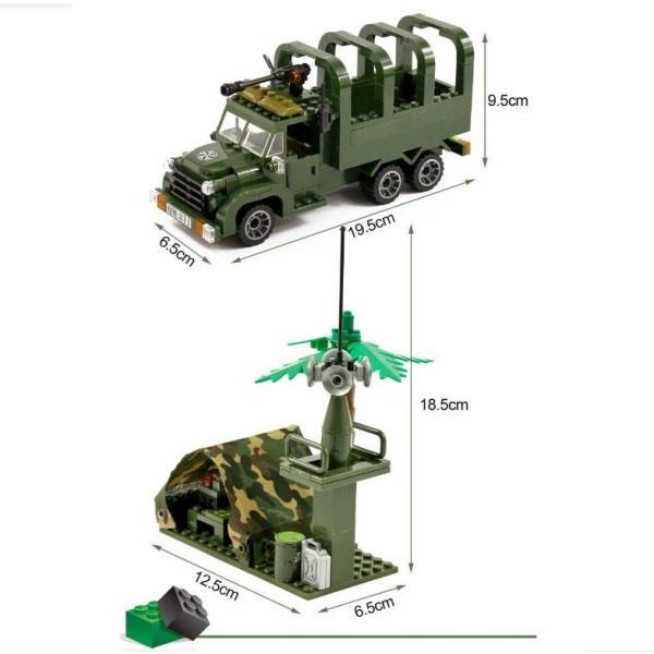 レゴ互換 ブロック 軍隊 軍事基地 ヘリコプター 武器 戦闘 戦車 ミリタリー 兵士27体 Lego 1281ピース|kenji1980-store|08