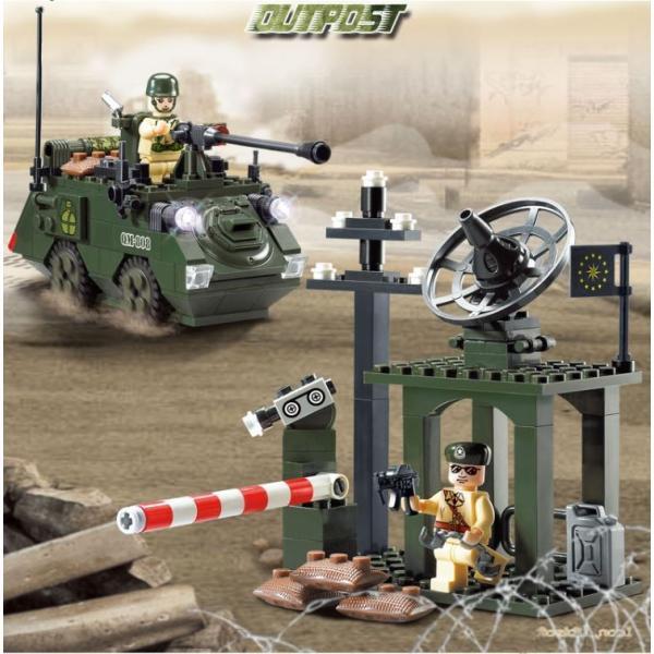 レゴ互換 ブロック 軍隊 軍事基地 ヘリコプター 武器 戦闘 戦車 ミリタリー 兵士27体 Lego 1281ピース|kenji1980-store|09