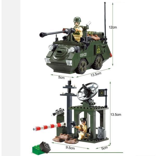 レゴ互換 ブロック 軍隊 軍事基地 ヘリコプター 武器 戦闘 戦車 ミリタリー 兵士27体 Lego 1281ピース|kenji1980-store|10