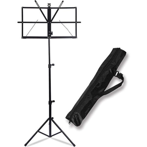 楽譜 スペクトルスタンド 楽譜スタンド ホルダー/ポータブル折りたたみ譜面台 調節可能な高さ三脚ベースメタル譜面台 軽量 キャリングバッグ付き