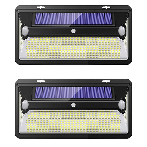 360LED 2つ高感度センサー センサーライト ソーラーセンサーライト 3つ知能モード 320°照明範囲 人感センサー自動点灯/消灯 省エネ 防水 2個セット