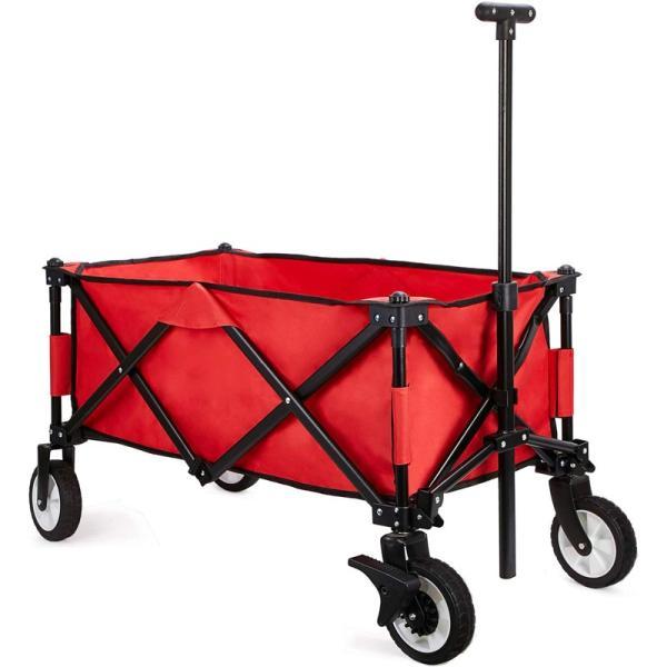 キャリーワゴン アウトドア 折りたたみキャリーカート キャンプ レジャー BBQ 運動会 超コンパクト 軽量 ストッパー付き 耐荷重150kg