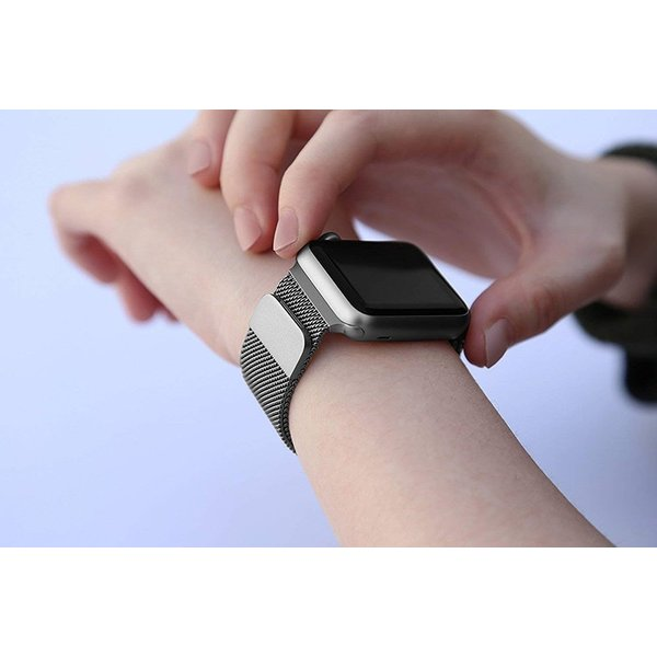 for Apple用 watch バンド ミラネーゼループ for アップルウォッチバンド for アップルウォッチ3 ステンレス留め金 watch series 3/2/1に対応 42mm spddm|kenkenanto|06