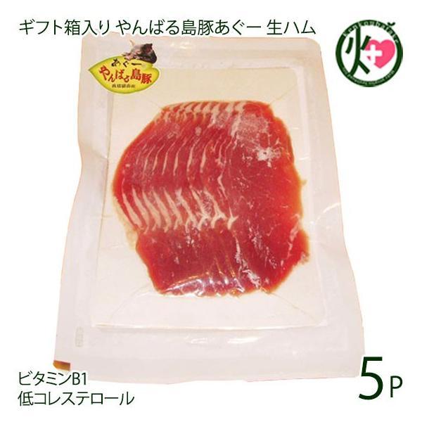 ギフト やんばる島豚あぐー 黒豚 生ハム 100g×5P フレッシュミートがなは フレッシュミートがなは 沖縄 アグー あぐー 貴重 条件付き送料無料