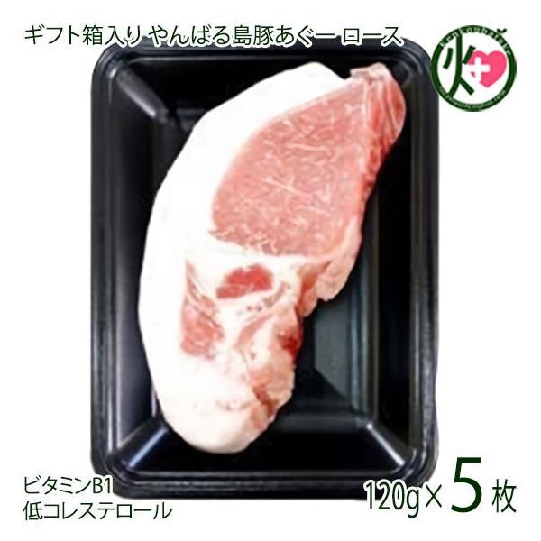 お中元 ギフト 黒豚 ロース ステーキ用 120g×5枚 フレッシュミートがなは やんばる島豚あぐー 沖縄 土産 アグー あぐー 貴重 肉 人気 条件付き送料無料