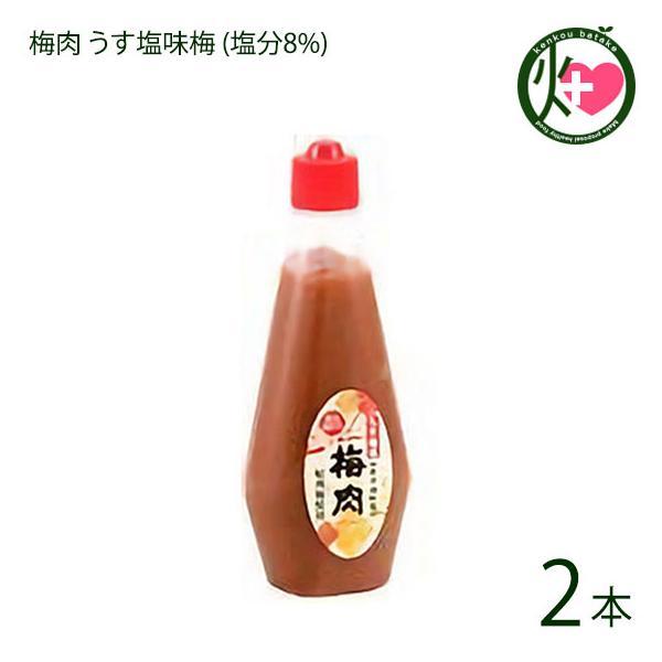 梅肉 うす塩味梅 (塩分8%) 340g×2本 濱田 梅肉ソース 梅肉チューブ クエン酸 リンゴ酸 マツコの知らない世界 条件付き送料無料