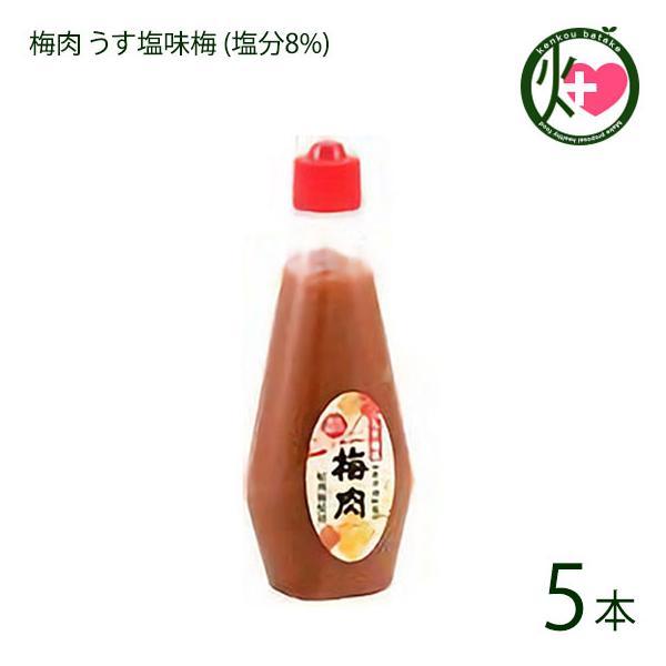梅肉 うす塩味梅 (塩分8%) 340g×5本 濱田 梅肉ソース 梅肉チューブ クエン酸 リンゴ酸 マツコの知らない世界 条件付き送料無料