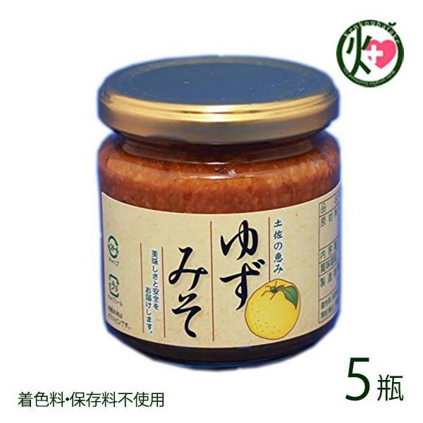 ゆずみそ 200g×5 着色料・保存料不使用 高知県産自家製柚子を贅沢に使用した、香り高いゆず味噌  送料無料