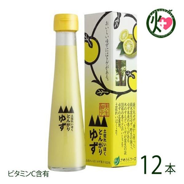 とんがりゆず 120ml×12本 さめうらフーズ 高知県 四国 フルーツ 実生(みしょう)柚子 丸ごと 手しぼり 果汁100% ビタミンC クエン酸 リモネン 条件付き送料無料