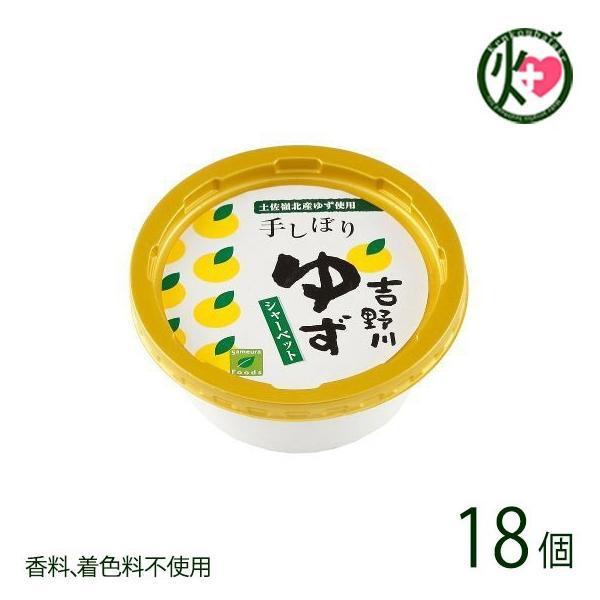 吉野川ゆずシャーベット 150ml×18個 手搾りゆず果汁 条件付き送料無料