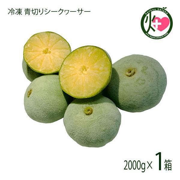 冷凍 青切りシークヮーサー 2Kg 沖縄 大宜味産 人気 シークヮーサー 果実 冷凍フルーツ フローズン ノビレチン豊富 送料無料