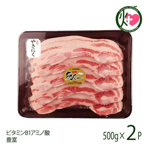 あぐー 豚バラ 焼肉500g×2P JAおきなわ 沖縄 土産 豚肉 県産ブランド豚あぐー ご自宅用に ビタミンB1 アミノ酸豊富 送料無料